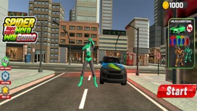 蜘蛛绳超级英雄游戏图1